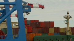 Container ship and crane, lots of movement, #1 Stock Footage