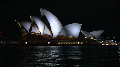 Sydney City & Opera House at Night PT22 Stock Footage
