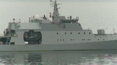 Military, Chilean navy, offshore patrol vessel Stock Footage
