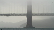 Stock Video Footage of Golden gate bridge with fog