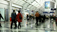 Chicago O'hare Airport Terminal B - stock footage
