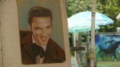 Elvis maalaus mall, ulkona Arkistovideo