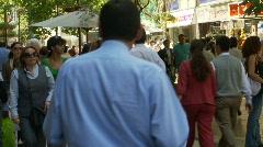 People streetlife, Santiago  Stock Footage