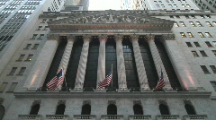 New York Stock Exchange Wide Angle - stock footage
