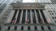 New York Stock Exchange Wide Angle Stock Footage