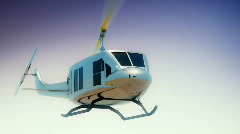 134 single bell huey helicopter Stock Footage