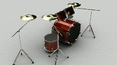 134 Rock band drums drum set - stock footage