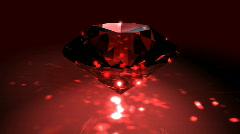 Red Spinning Shiny Diamond - Diamond 02 (HD) Stock Footage