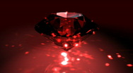 Stock Video Footage of Red Spinning Shiny Diamond - Diamond 02 (HD)