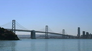 Stock Video Footage of San Francisco Bay Bridge