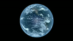 Planet earth rotating in space. Loopable & With Matte Stock Footage