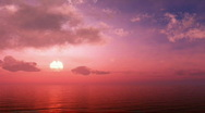 Beautiful sunset over the ocean Stock Footage