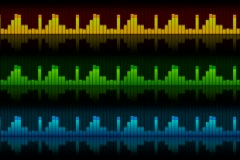 The sound elements (equalizers), all elements vj (without seam), alpha NTSC - stock footage