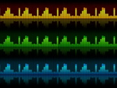 Stock Video Footage of The sound elements (equalizers), all elements vj (without seam), alpha NTSC