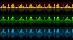 The sound elements (equalizers), all elements vj (without seam), alpha HD - stock footage