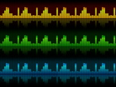 The sound elements (equalizers), all elements vj (without seam), alpha PAL Stock Footage