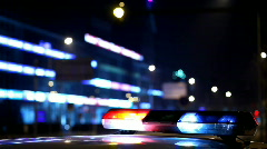Flashing police car lights Stock Footage