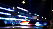 Flashing police car lights Stock Footage