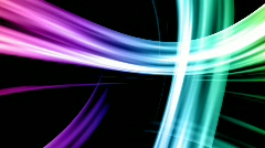 colorful glowing lines, looping motion background - stock footage