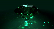 Stock Video Footage of Green Spinning Shiny Diamond - Diamond 03 (HD)
