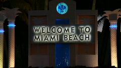 Welcome to Miami Beach Stock Footage