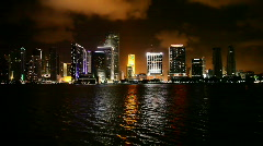 Downtown Miami after sunset Stock Footage