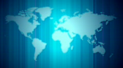 World map blue with lines loop Stock Footage