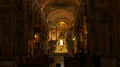 Santiago cathedral interior montage Stock Footage