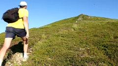 Hiking - stock footage