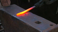 HD Traditional blacksmith work, closeup Stock Footage