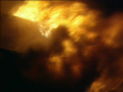 Close up of a fire Stock Footage