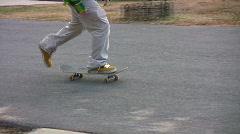 Skate board crash Stock Footage