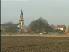Distance view of Doel, before demolition had started Stock Footage