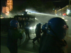 Riots in the center of Antwerp  - stock footage
