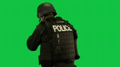 SWAT Police Search - stock footage