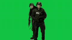 SWAT Team Approach - stock footage