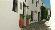 Spanish village and castle  Stock Footage