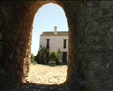 Spanish village and castle  - stock footage