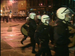 Riots in the center of Antwerp  Stock Footage