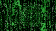 fly through matrix code loopable - stock footage