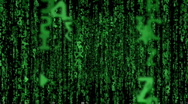 Stock Video Footage of fly through matrix code loopable
