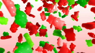 Stock Video Footage of Gummy Bear Swirl Red and Green