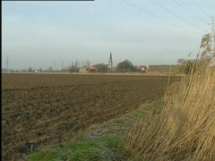 Distance view on Doel, Antwerp area Stock Footage