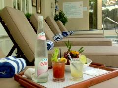 Poolside Drinks Stock Footage