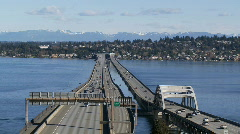 I-90 floating bridge Stock Footage