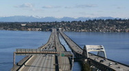 Stock Video Footage of I-90 floating bridge