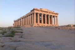 The Parthenon atop the Acropolis in Athens Greece (Still) - stock footage