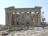 East side of the Parthenon in Athens, Greece Stock Footage