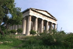 The north & west corner of the Theseum (Hephaestus) Temple in the ancient agora Stock Footage