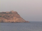 The Temple of Poseidon, Cape Sounion, Greece Stock Footage